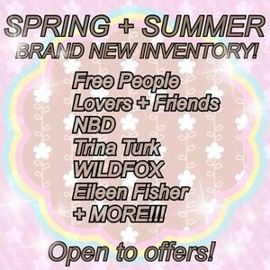 Other - Newly Stocked! Spring + Summer Inventory!